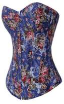 Alivila.Y Fashion Corset Alivila.Y Fashion Sexy Vintage Floral Denim Corset 2767-Black-2XL