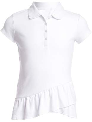 Nautica Uniform Asymmetrical Ruffle Top (Little Girls)