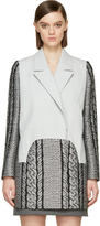 Viktor and Rolf Grey Cable Knit Coat