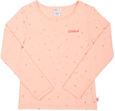Billieblush STAR-PRINT LONG-SLEEVE T-SHIRT-PEACH SIZE 12
