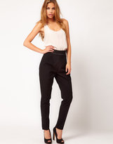 Asos Tux Trousers With Satin Trim