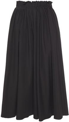 Marni Pleated Cotton-poplin Midi Skirt