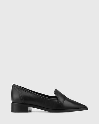 Wittner - Women's Black Loafers - Miguel Leather Pointed Toe Loafers - Size One Size, 38 at The Iconic