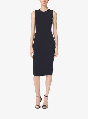 Michael Kors Collection Stretch Wool-Crepe Sheath
