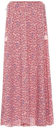 Poupette St Barth Jenna floral twill maxi skirt
