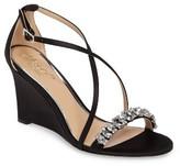 Badgley Mischka Women's Embellished Strappy Wedge Sandal