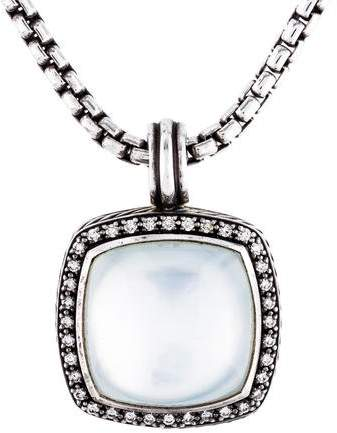 David Yurman Quartz Doublet & Diamond Albion Pendant