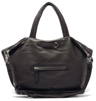 Maison Margiela Four-stitched Cracked-leather Weekender Bag - Black