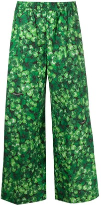 Dolce & Gabbana clover print cropped trousers