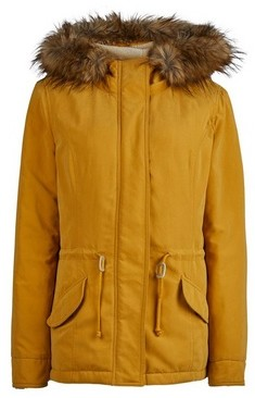 Dorothy Perkins Womens **Only Yellow Parka Coat, Yellow
