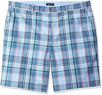 Nautica Men's Big Cotton Twill Flat Front Chino Deck Short