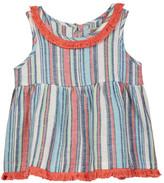 Lucky Brand Fringe Trim Striped Top (Little Girls)
