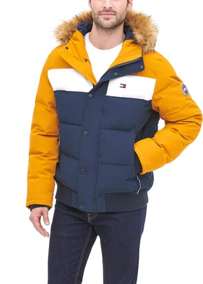 Tommy Hilfiger Women's Quilted Arctic Cloth Snorkel Bomber Jacket with Removable Hood (Standard and Big & Tall)