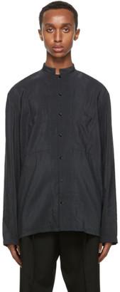 Lemaire Grey Dry Silk Shirt