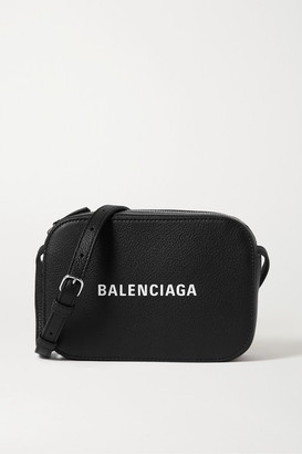 Balenciaga Everyday Printed Textured-leather Shoulder Bag - Black