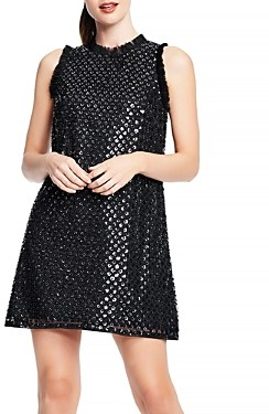 Aidan Mattox Sequinned Trapeze Dress