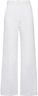 Prada High-Waist Cropped Jeans