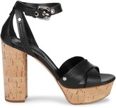 Casadei Leather Ankle-Strap Sandals