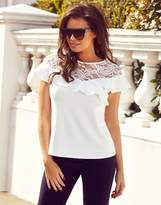 Jessica Wright Lace And Frill Top