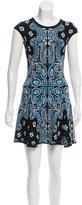 Torn By Ronny Kobo Sleeveless Abstract Print Dress