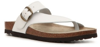 White Mountain Carly Leather Flat Sandal