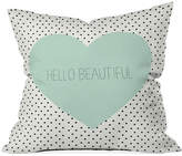 "Deny Designs Allyson Johnson Hello Beautiful Heart 16"" Square Throw Pillow"