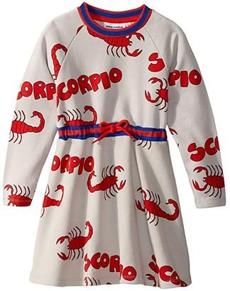 Mini Rodini Scorpio All Over Print Sweatdress (Infant/Toddler/Little Kids/Big Kids) (Grey) Girl's Dress