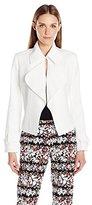 Anne Klein Women's Washed Linen Short Trench Jacket