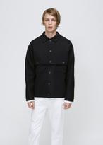 Jil Sander Black New Jersey Double Shirt Jacket