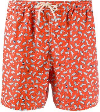 MC2 Saint Barth Shark Print Swim Shorts