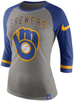 Nike Women's Milwaukee Brewers Tri Raglan T-Shirt