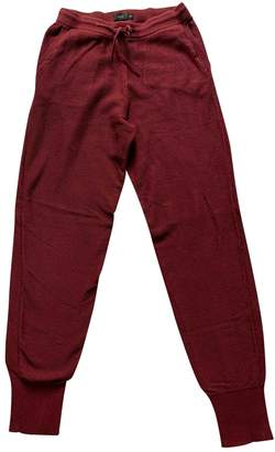 Onia Burgundy Cotton Trousers