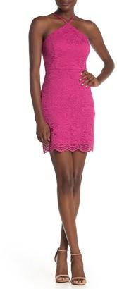 Jump Back Cutout Lace Mini Dress