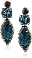 "Sorrelli Blue Brocade"" Modern Marquise Drop Earring"