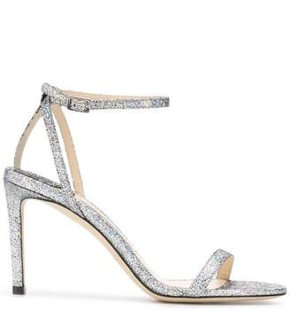 Jimmy Choo Minny 85mm glitter-embellished sandals