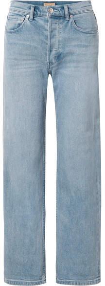 Burberry High-rise Straight-leg Jeans - Blue