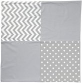 New Arrivals Inc. New Arrivals Zig Zag Baby Crib Blanket-White & Gray