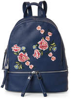 Urban Expressions Rose Embroidered Backpack