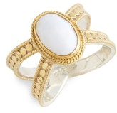 Anna Beck Women's White Opal Cross Ring