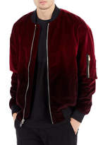 True Religion Dip-Dyed Velvet Bomber Jacket