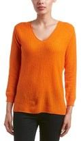 Magaschoni Cashmere Textured Asymmetric Sweater.