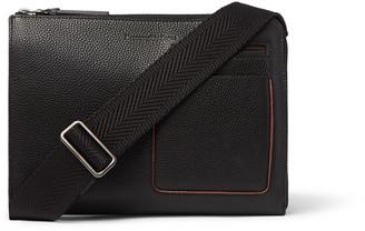 Ermenegildo Zegna Full-Grain Leather Messenger Bag