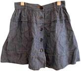 Lover Blue Linen Skirt for Women