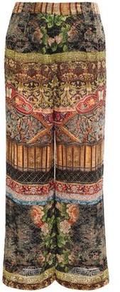 Camilla Devore-velvet Wide-leg Pants