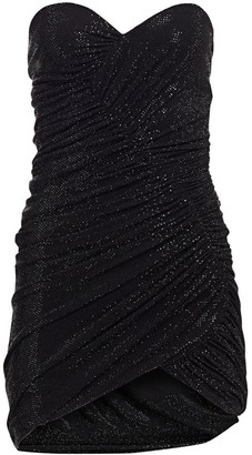 Alexandre Vauthier Microcrystal Strapless Cocktail Dress