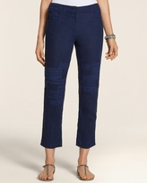Chico's Linen Lace Patchwork Skimmer