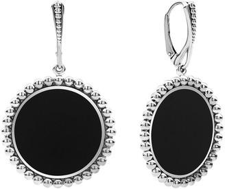 Lagos Maya Inlay Drop Earrings, Mother-of-Pearl/Onyx