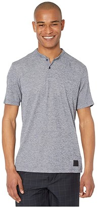 adidas Adicross No Show Polo Shirt (Collegiate Navy Melange/Light Blue Melange) Men's Clothing