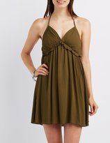 Charlotte Russe Ruffle T-Back Babydoll Dress