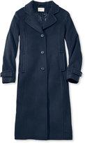 L.L. Bean Women's Classic Lambswool Polo Coat, Long